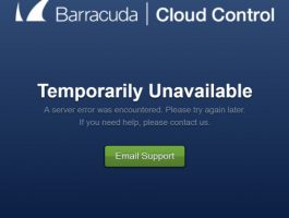 Barracuda: Outage caused by 'large number of inbound connections'